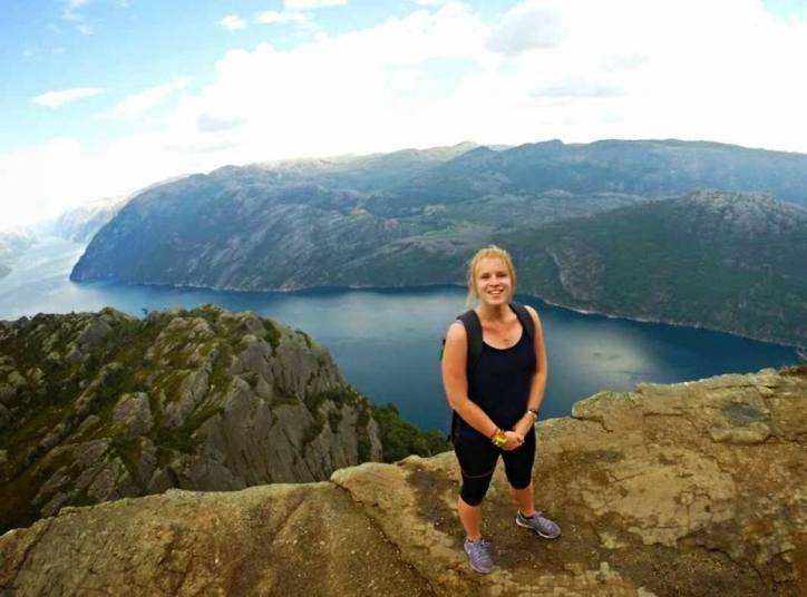 I did the Preikestolen hike in Norway by myself and it was incredible!