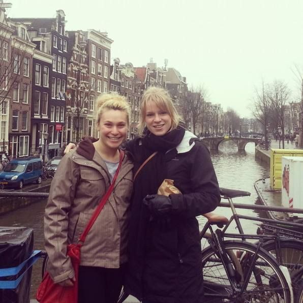 My dorm roommate and I in Amsterdam