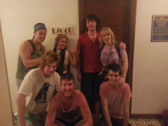 Great dorm friends after a week together in Hanoi Vietnam