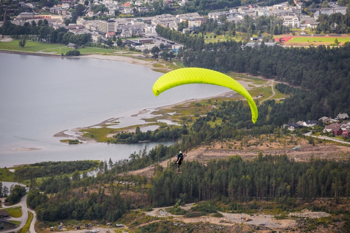 Paragliding at Voss