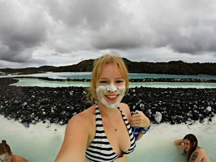 Blue Lagoon geothermal spa and its lava surrounds