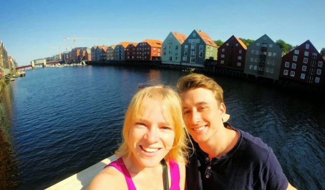 Sightseeing in Trondheim, Norway with my  host
