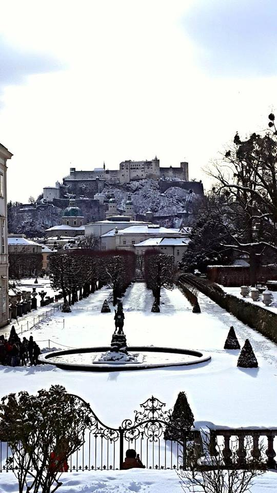 View of the Fortress from Mirabell gardens