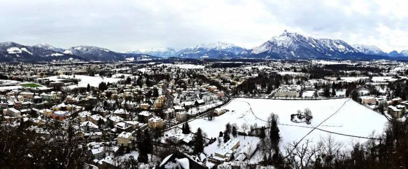 Panorama of Salzburg from the fortress