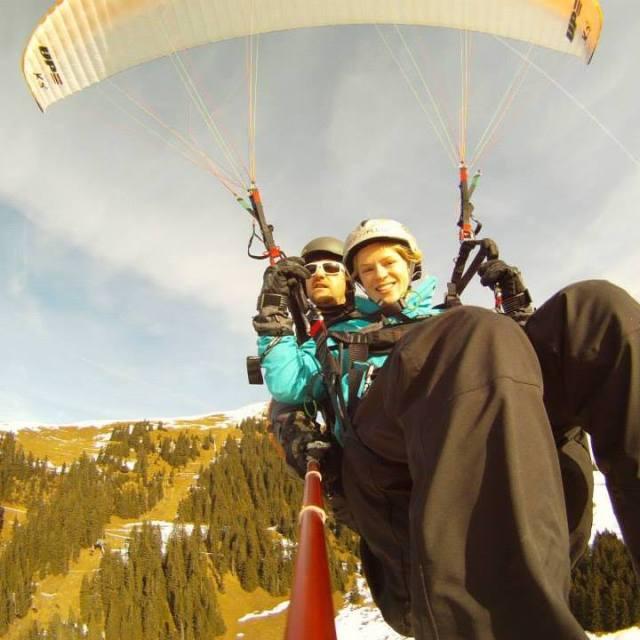 Paragliding over Austria