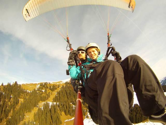 Paragliding over Hopfgarten